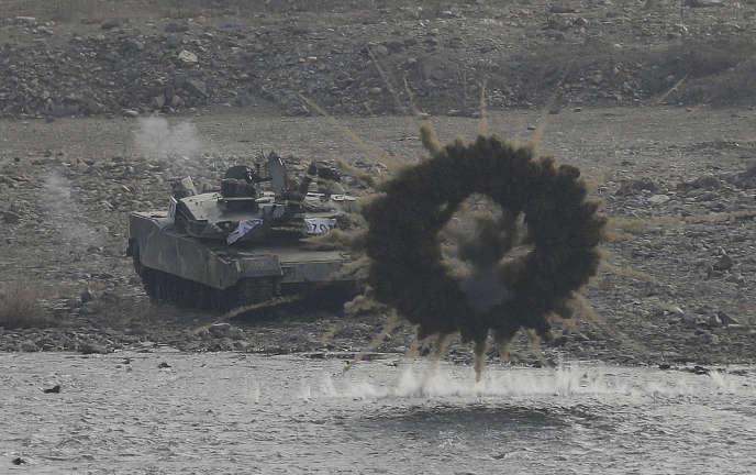 Un tank sud-coréen, à la frontière avec la Corée du Nord, le 3 mars. (AP Photo/Ahn Young-joon)