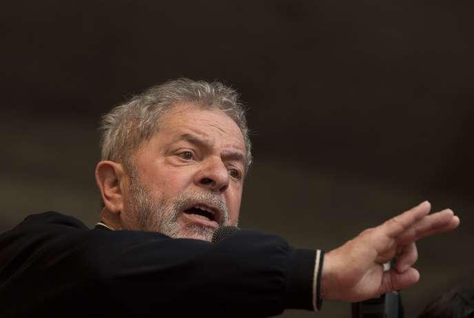 Luiz Inacio Lula da Silva à Sao Paulo en mai 2015 .