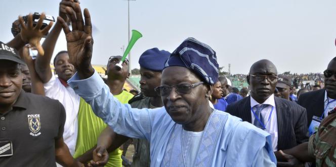 Le candidat à la présidentielle, Abdoulaye Bio Tchané, le 7 janvier 2016, à Porto Novo, au Bénin.