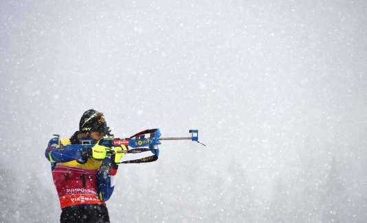 Martin Fourcade, le 16 janvier à Ruhpolding, en Allemagne. / AFP / Christof STACHE