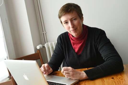 La militante Carolie De Haas,  l'une des initiatrice de la pétition, le 3 mars 2016 à Paris.