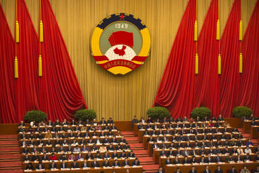 Des délégués à la session d'ouverture de la Conférence consultative politique du peuple chinois (CCPPC), à Pékin, le 3 mars.