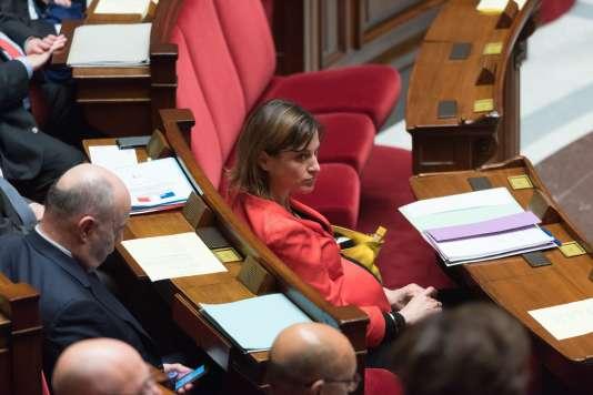 La secrétaire d'Etat auprès du premier ministre, chargée de l'aide aux victimes, Juliette Méadel, à l'Assemblée nationale.