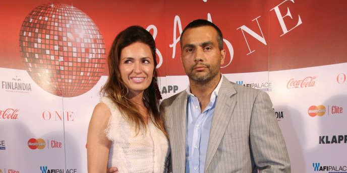 Frank Colin et son épouse d'alors, Maria Marinescu, à Bucarest, en mai 2012.