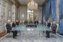 Les membres du Conseil constitutionnel, dans la salle  du Conseil, le 15 octobre 2015.