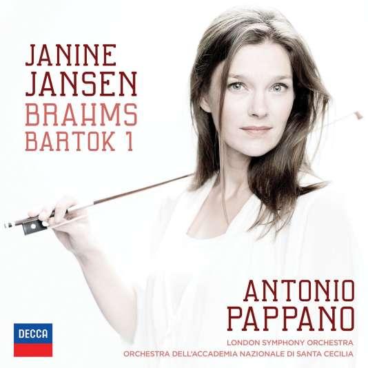 Pochette de l'album « Brahms/Bartok 1 », de Janine Jansen (violon) et Antonio Pappano (direction).