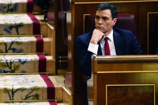 Le socialiste Pedro Sanchez, le 4 mars.