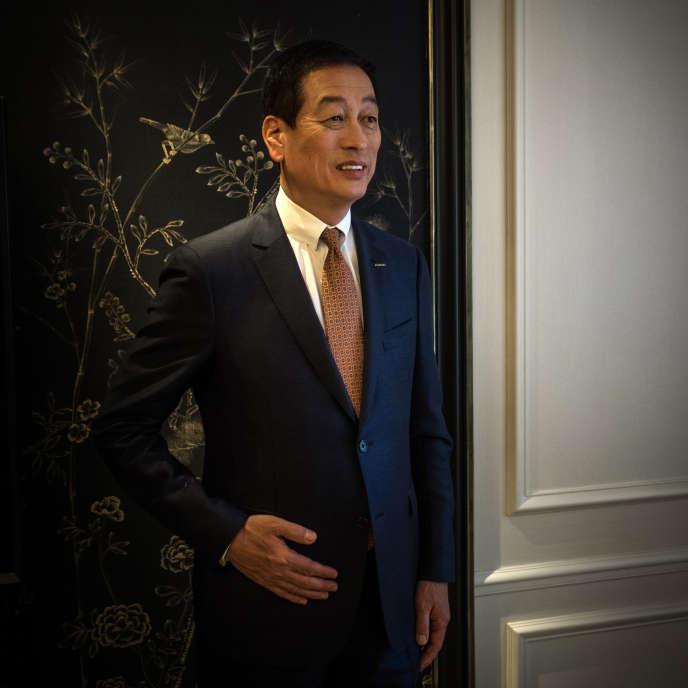 Masahiko Uotani, PDG de Shiseido, vendredi 4mars, àParis.