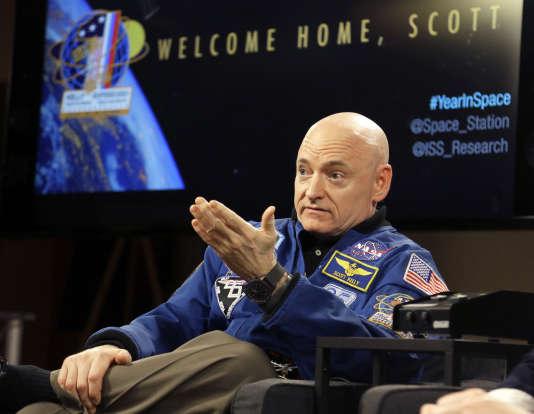 L'astronaute américain Scott Kelly, le 4 mars à Houston au Texas.