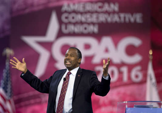 Ben Carson lors d'un meeting le 4 mars à National Harbor, dans le Maryland.
