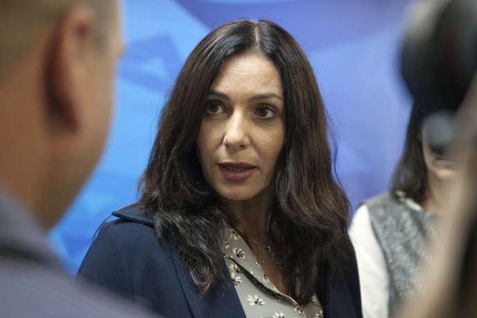 Miri Regev, la ministre israélienne de la culture, à Jérusalem, en juin 2015.