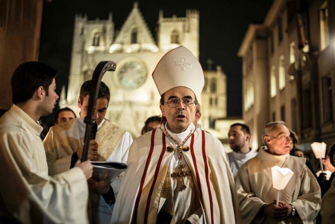 Monseigneur Philippe Barbarin le 8 décembre, à Lyon.