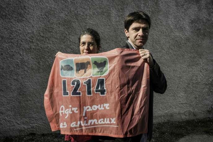 Brigitte Gothière et Sébastien Arsac, les cofondateurs et porte-parole de l'association L214.