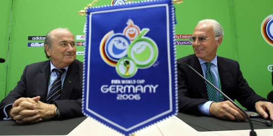 Joseph Sepp Blatter et Franz Beckenbauer, à Munich en 2006.