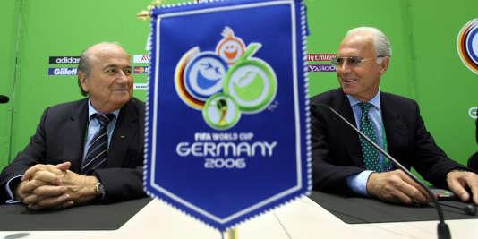 Sepp Blatter et Franz Beckenbauer, en 2006.
