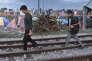 Plus de 10 000 réfugiés, principalement syriens et irakiens, bloqués à Idomeni, à la frontière grecque, vendredi 4 mars.