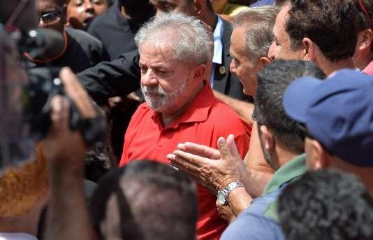 L'ancien président brésilien Luiz Inacio Lula da Silva à Sao Paulo le 5 mars.