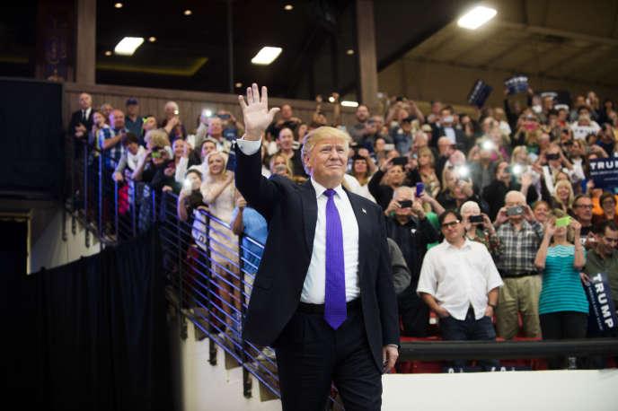 Donald Trump lors d'un meeting à South Point Arena, Las Vegas.