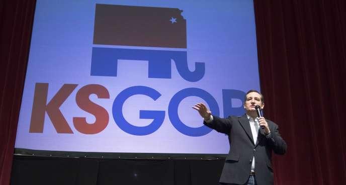Ted Cruz lors dun meeting à Wichita, dans le Kansas le 5 mars.