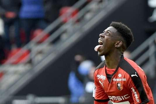 Ousmane Dembele, auteur d'un triplé pour Rennes face à Nantes.