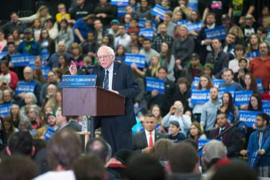 Le candidat à l'investiture démocrate Bernie Sanders lors d'un meeting à Warren (Michigan) le 5 mars.