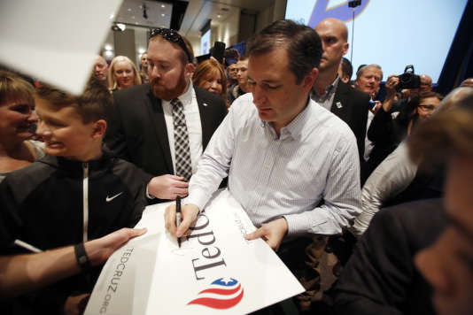 Le candidat à l'investiture républicaine Ted Cruz lors d'un meeting à l'université de Boise, dans l'Idaho, le 5 mars.