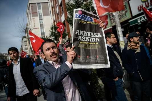 Manifestation à Istanbul, le 6 mars.