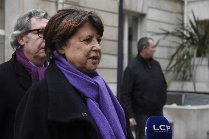 Martine Aubry à Paris, le 7 mars 2016.