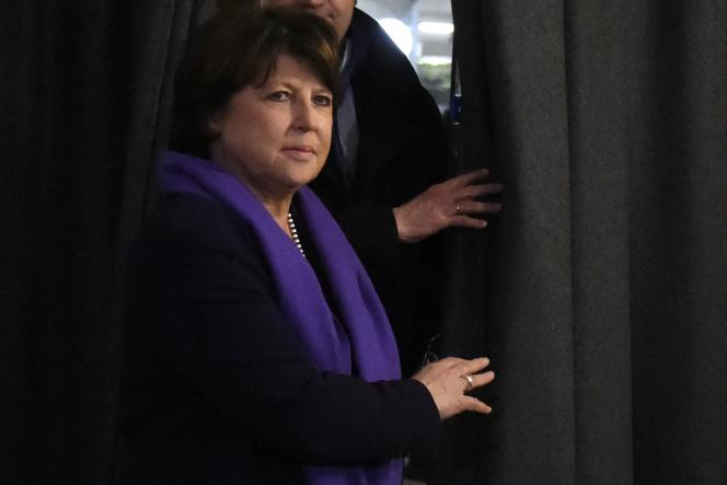 Martine Aubry, le 7 mars, au Bureau National du PS.
