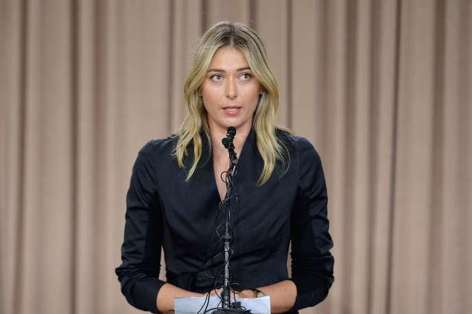 Sharapova avait reconnu lors d'une conférence de presse, le 7 mars, avoir pris du meldonium.