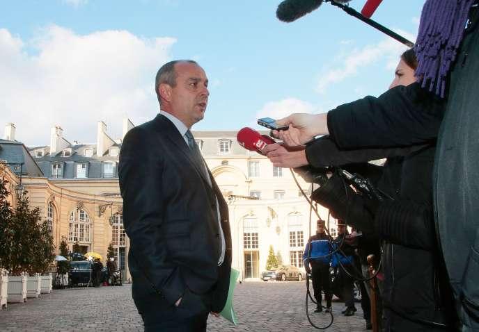 Laurent Berger, le 7 mars, à l'Hôtel Matignon, à Paris.