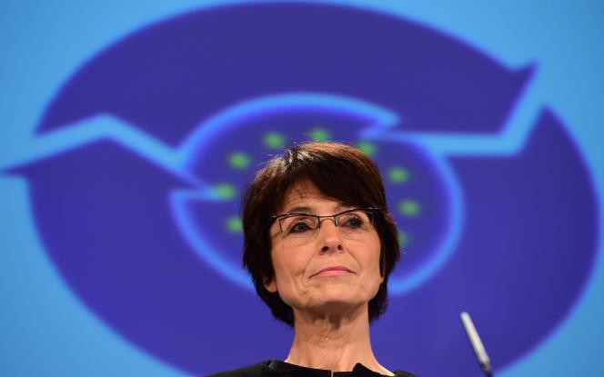 Marianne Thyssen, commissaire européenne chargée de l'emploi et des affaires sociales, à la Commission de Bruxelles, en 2014