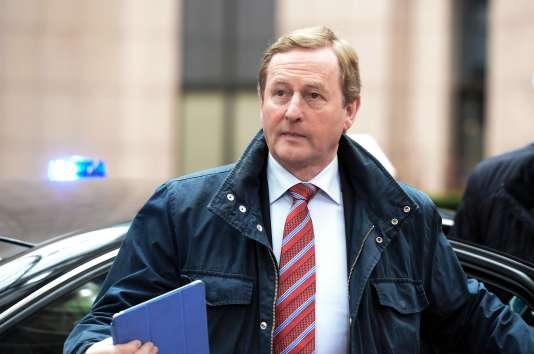 Le premier ministre Enda Kenny, ici à Bruxelles, a décidé d'écourter son traditionnel voyage aux Etats-Unis, afin de relancer des discussions destinées à préparer la formation d'un nouveau gouvernement.