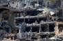 Une photo prise le vendredi 26 février qui montre l'ampleur des destructions dans la ville de Homs en Syrie.