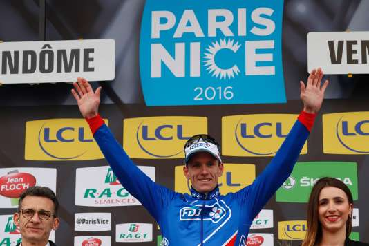 Arnaud Démare, vainqueur à Vendôme, le 7 mars 2016.