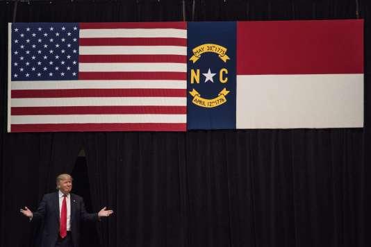 Donald Trump en campagne à Concord, en Caroline du Nord, où les électeurs républicains voteront le 15 mars, pour l'autre Super Tuesday.