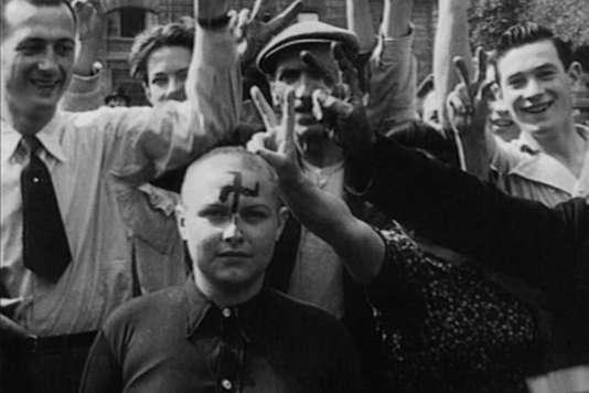 Les Français, qui ont vu certaines de leurs femmes entretenir des relations avec les occupants allemands puis avec les libérateurs américains, vont tenter de reprendre le contrôle sur elles.
