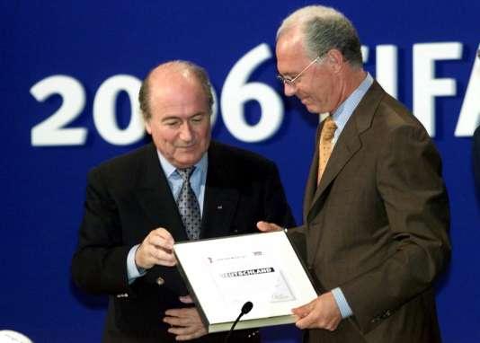 Joseph Blatter et Franz Beckenbauer.