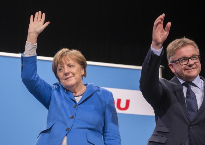 Angela Merkel et Guido Wolf, le 8 mars.