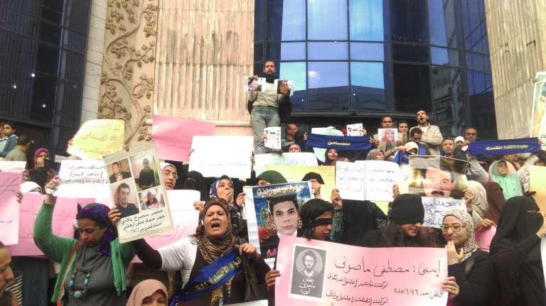 Lors de la manifestation des femmes, le 8 mars au Caire.