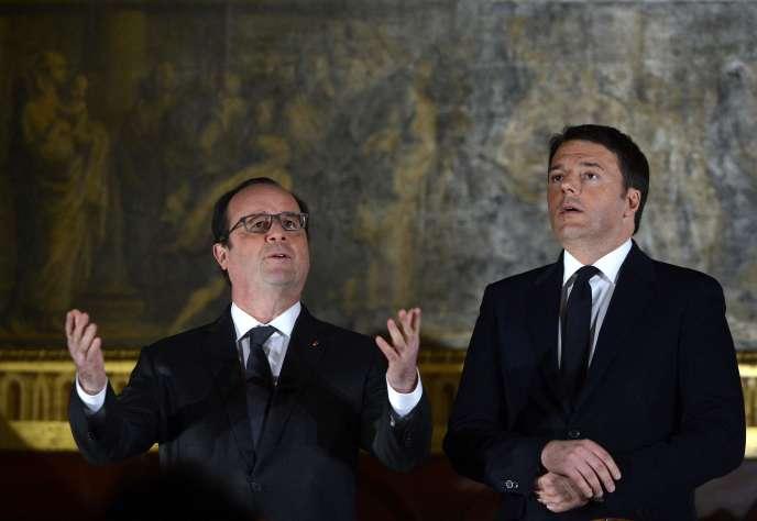 François Hollande et Matteo Renzi à Venise le 8 mars 2016.