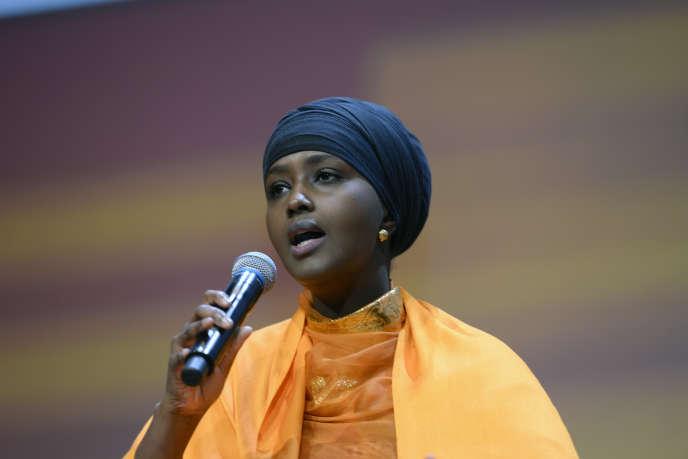 Fadumo Dayib, candidate à l'élection présidentielle de Somalie :