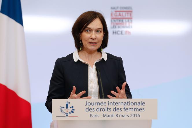 Laurence Rossignol, ministre des familles, de l'enfance et des droits des femmes, le8mars 2016.