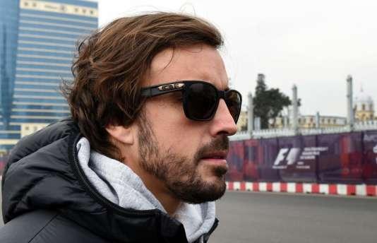 Le pilote McLaren-Honda Fernando Alonso était à Bakou (Azerbaidjan) le 8 mars, en reconnaissance.