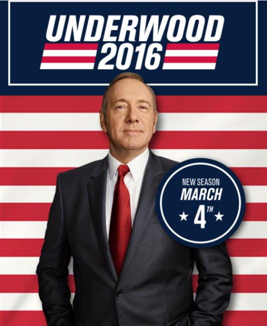 Une des affiches de la saison 4 de «House of Cards»