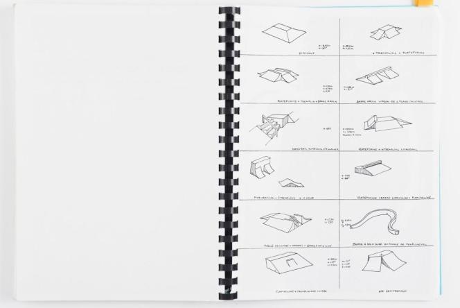 Une page du mémoire de fin d'études de l'architecte-skater Jean-Pierre Collinet.