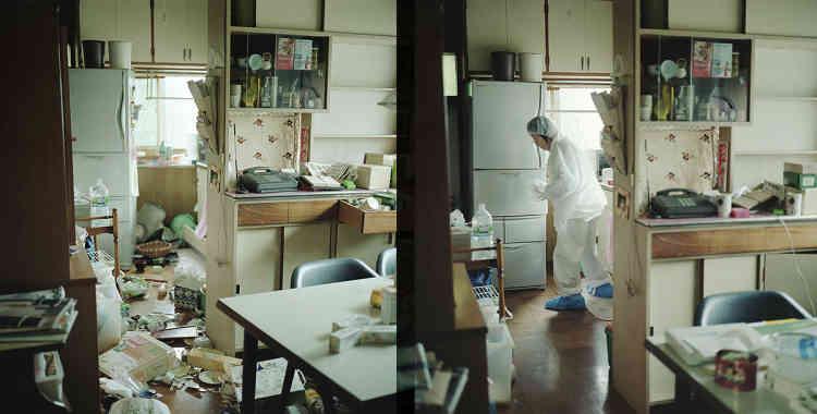 Juin 2011/Juin 2012 – Dans la maison de mes parents, à Namie-machi, Fukushima. Nous avons nettoyé la cuisine en sachant que nous n'allons plus habiter là.