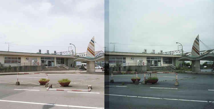Juin 2011/Juin 2015 – La station de Namie que j'empruntais pour aller à l'école.