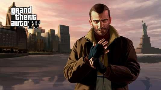 """""""GTA IV"""" raconte l'ascension de Niko Bellic, un immigré, dans le New York de l'après-11 septembre."""