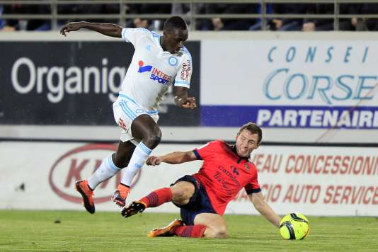 Benjamin Mendy face à l'Ajaccien David Ducourtioux , mercredi 9 mars.
